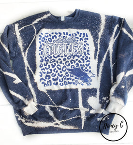 Achille Eagles leopard back with leopard sweatshirt bleached *navy*