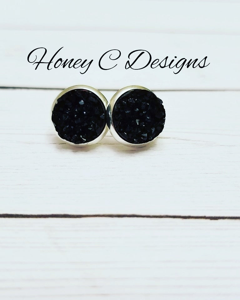 black on silver 12mm