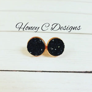 Black on rose gold 12mm