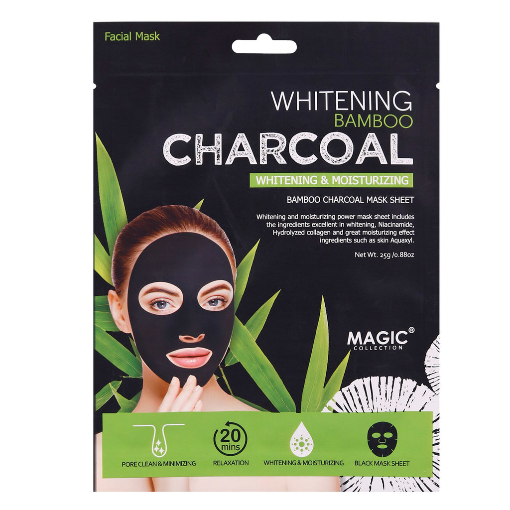 Magic Bamboo Charcoal Sheet Mask(Whitening & Moisturizing)