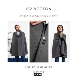 Gray Wool Cape