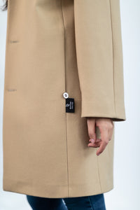 COAT IN CAMEL BLEND VIRGIN WOOL