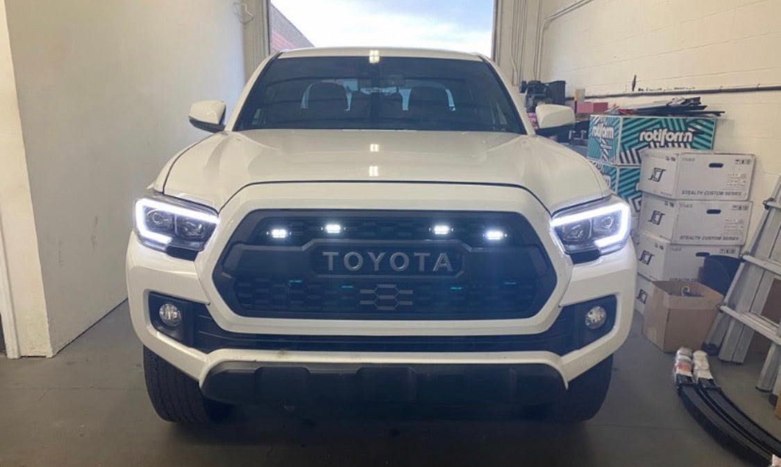 Smoked White Raptor Lights For Toyota Tacoma Trd Pro Grill 2016 2021 Built Nko