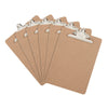 Blue Summit Supplies Clipboards, Hardboard Clipboards, Letter Size, Standard Clip, Natural/Brown MDF, 6-Pack