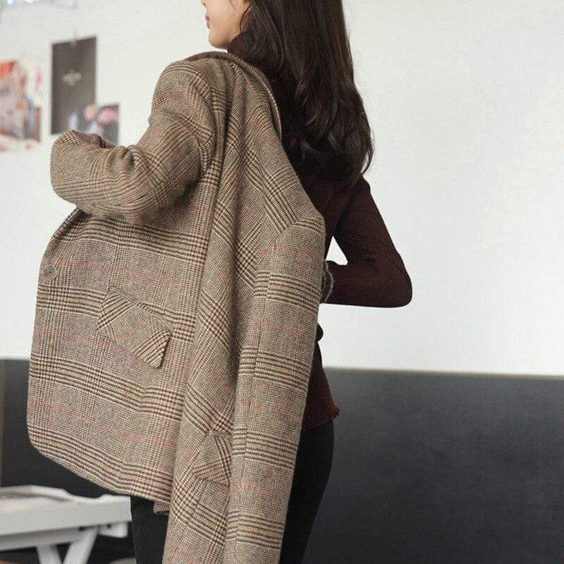 Veste Blazer à Carreaux Femme | Miss Carreaux