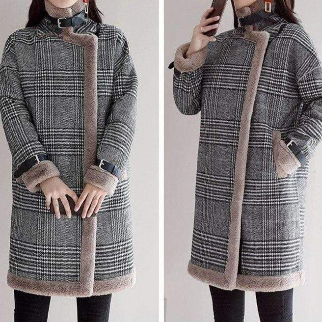 Manteau à Carreaux Prince de Galles | Miss Carreaux