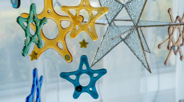 Christmas ornaments available during the Open Studio