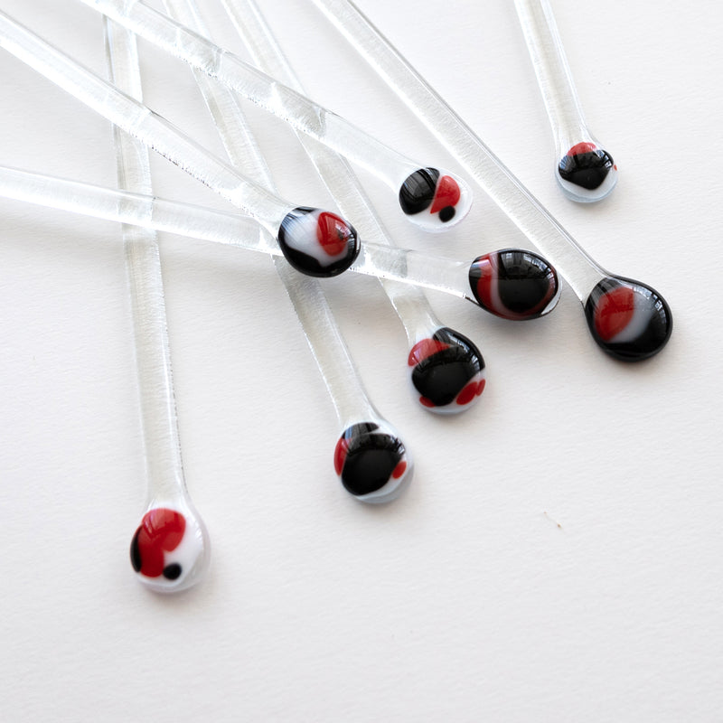 Swizzle sticks | Black Red and White
