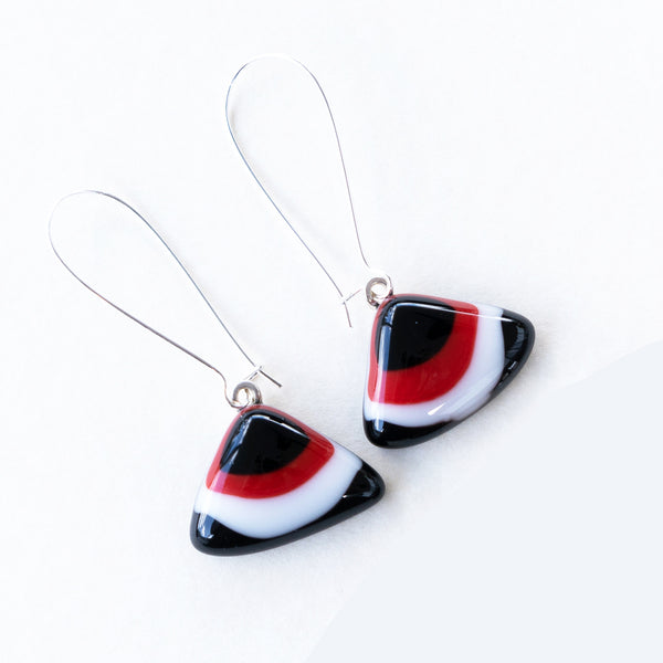 Black Red White | Drop earrings - Triangular 2