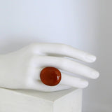 Terracotta Fused Glass Ring