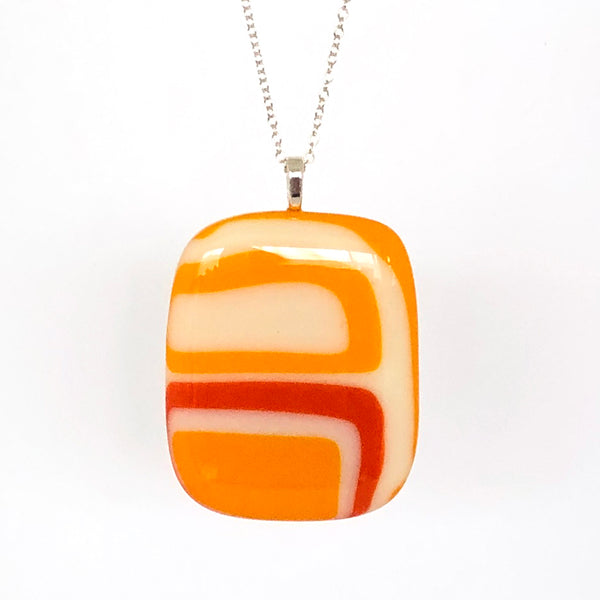 Orange Retro | Pendant - large