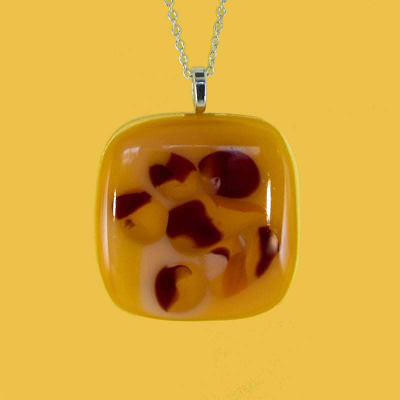 Sunset inspired fused glass pendant