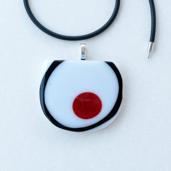 Black Red White | Pendant - Half Circle