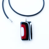 Black Red White | Pendant - Rectangle