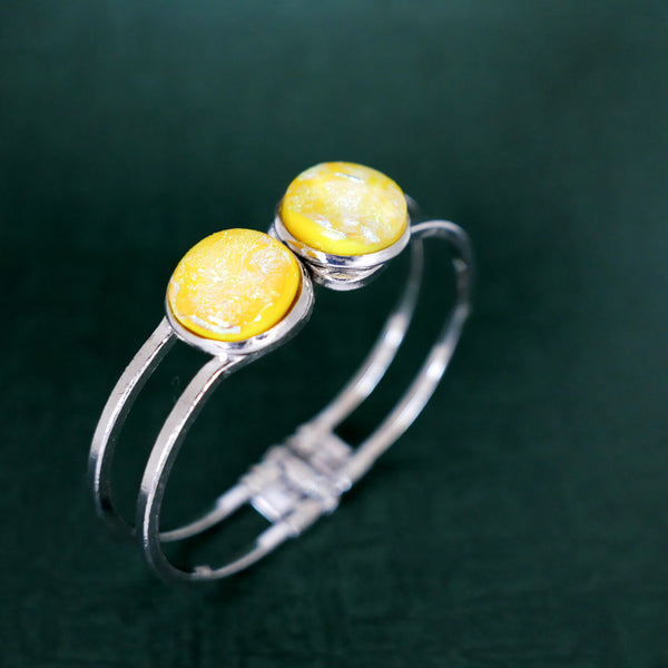 Happy Colours | Bangle, yellow + silver