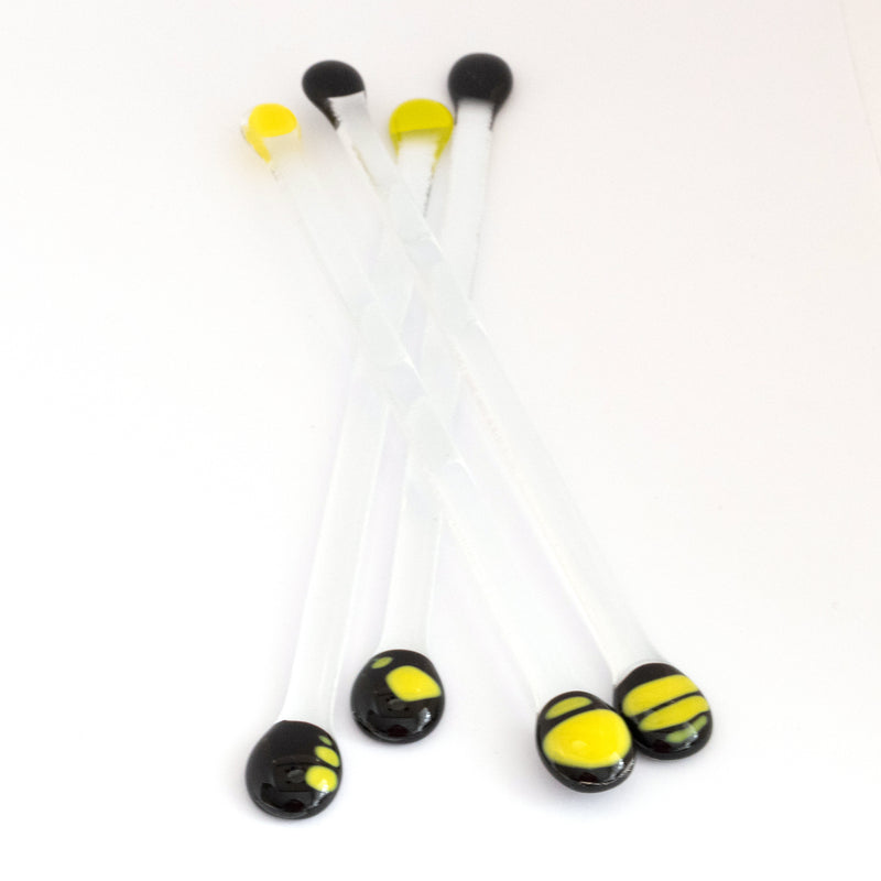 Swizzle sticks | Black + Yellow (Set of 4)