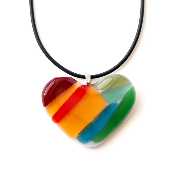 Love | Colourful Heart Pendant