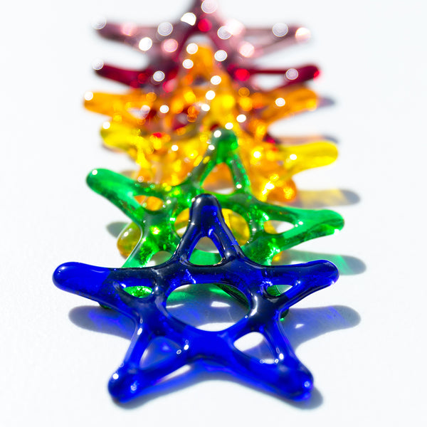 Bright and colourful star ornaments to add a spark to your Christmas tree.