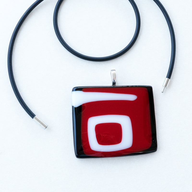 Black Red White | Statement Pendant