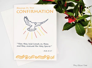 Confirmation Greeting Card / Catholic Christian / Modern / Prayer Intentions