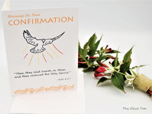Load image into Gallery viewer, Confirmation Greeting Card / Catholic Christian / Modern / Prayer Intentions
