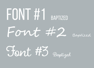 Personalized Nursery / Kid's Room Print: Birth, Baptism, First Holy Communion Remembrance - Gray