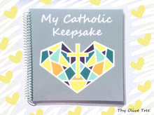 "Load image into Gallery viewer, ""My Catholic Keepsake"" Baby / Child's Memory Book - Sacred Heart Cover"
