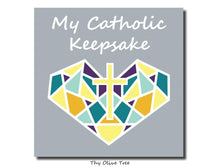 "Load image into Gallery viewer, [Standard Paperback] ""My Catholic Keepsake"" Baby / Child's Memory Book - Sacred Heart Cover"