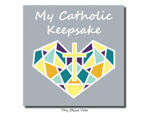 "[Standard Paperback] ""My Catholic Keepsake"" Baby / Child's Memory Book - Sacred Heart Cover"