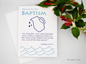 Baptism Greeting Card / Catholic Christian / Modern / Prayer Intentions