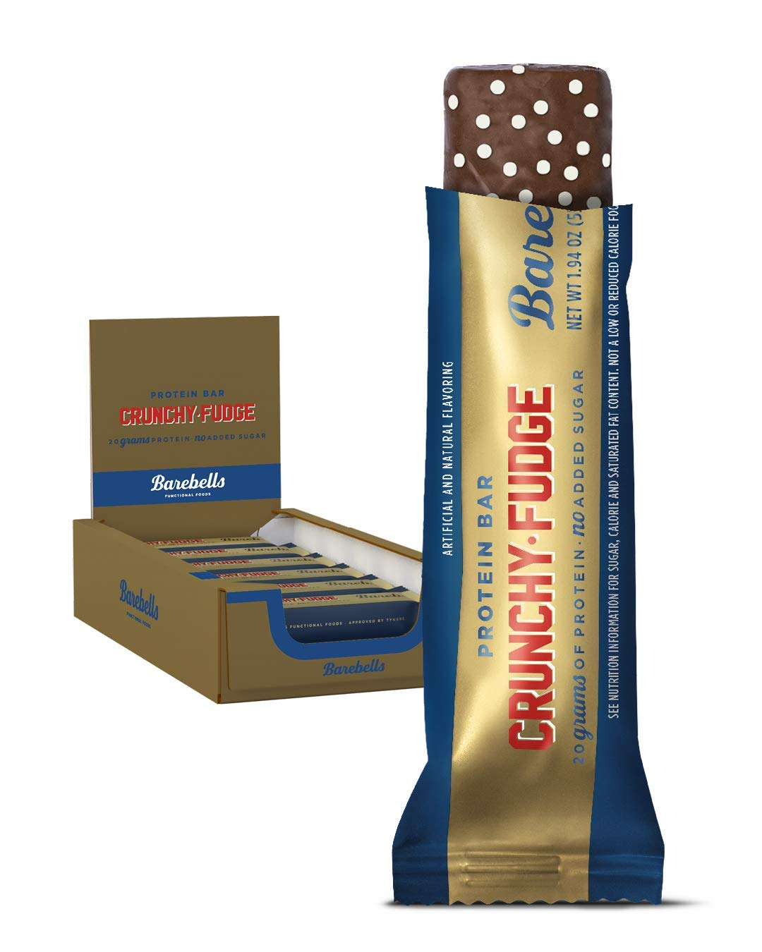 Barebells Protein Bar - Crunchy Fudge 24 Bars x 55g