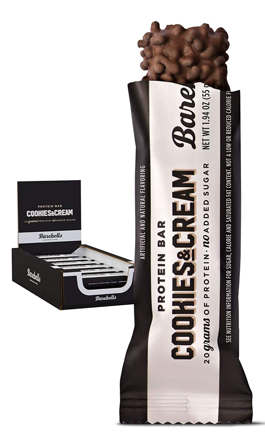 Barebells Protein Bar - Cookies & Cream 12 Bars x 55g