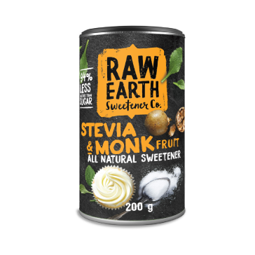 Raw Earth All Natural Stevia & Monk Fruit Sweetener