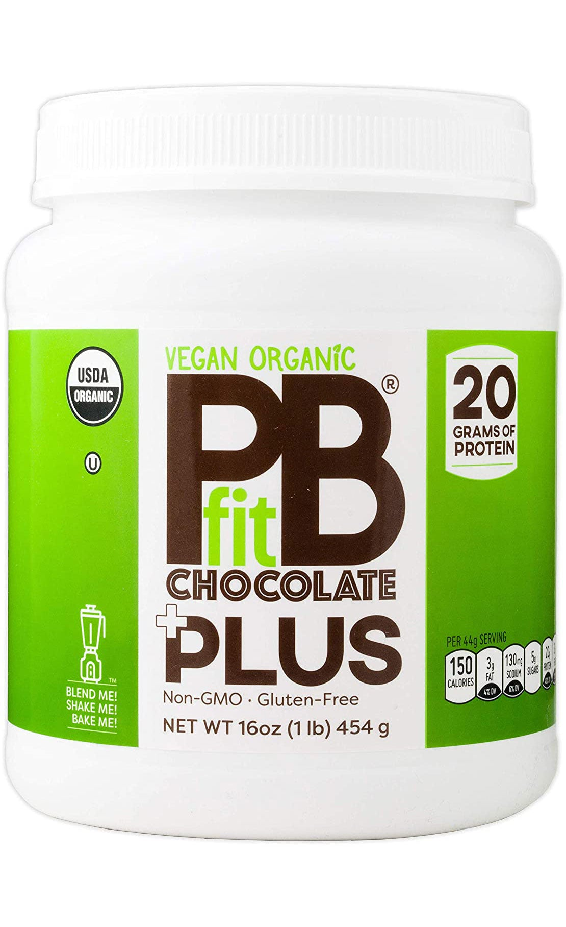PBfit Vegan Organic Chocolate Plus Powder