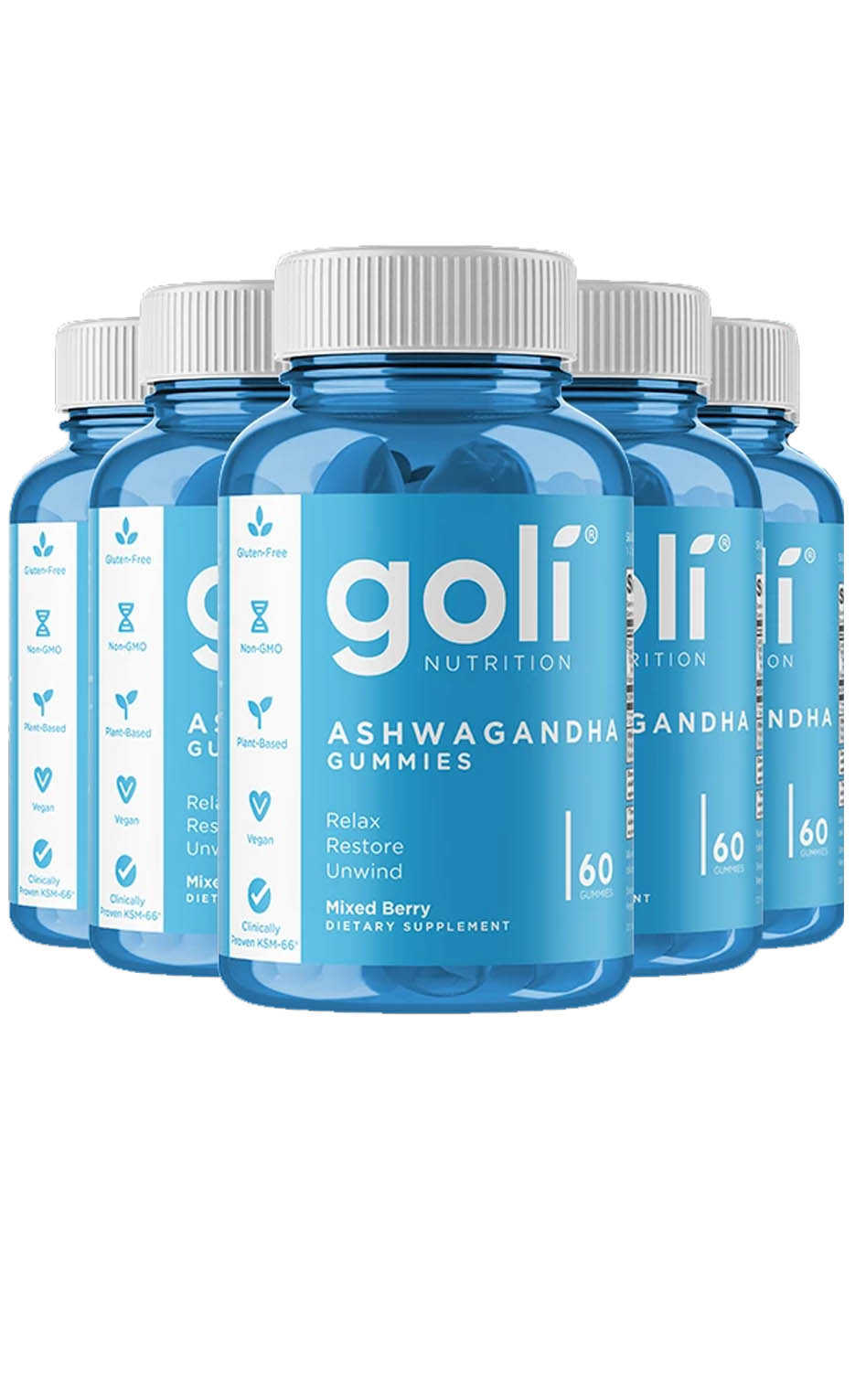 Goli Ashwaghanda Gummies - Five Pack