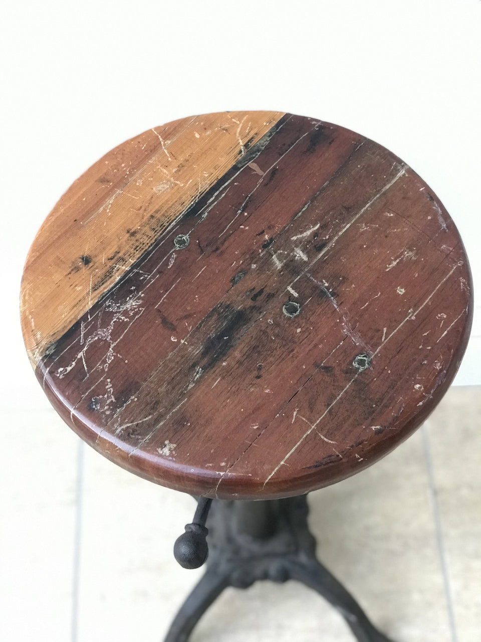 Adjustable Industrial Stool with a Great Top