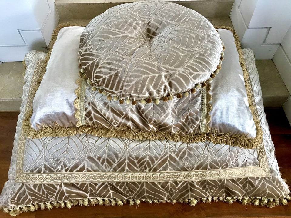 damask floor cushions