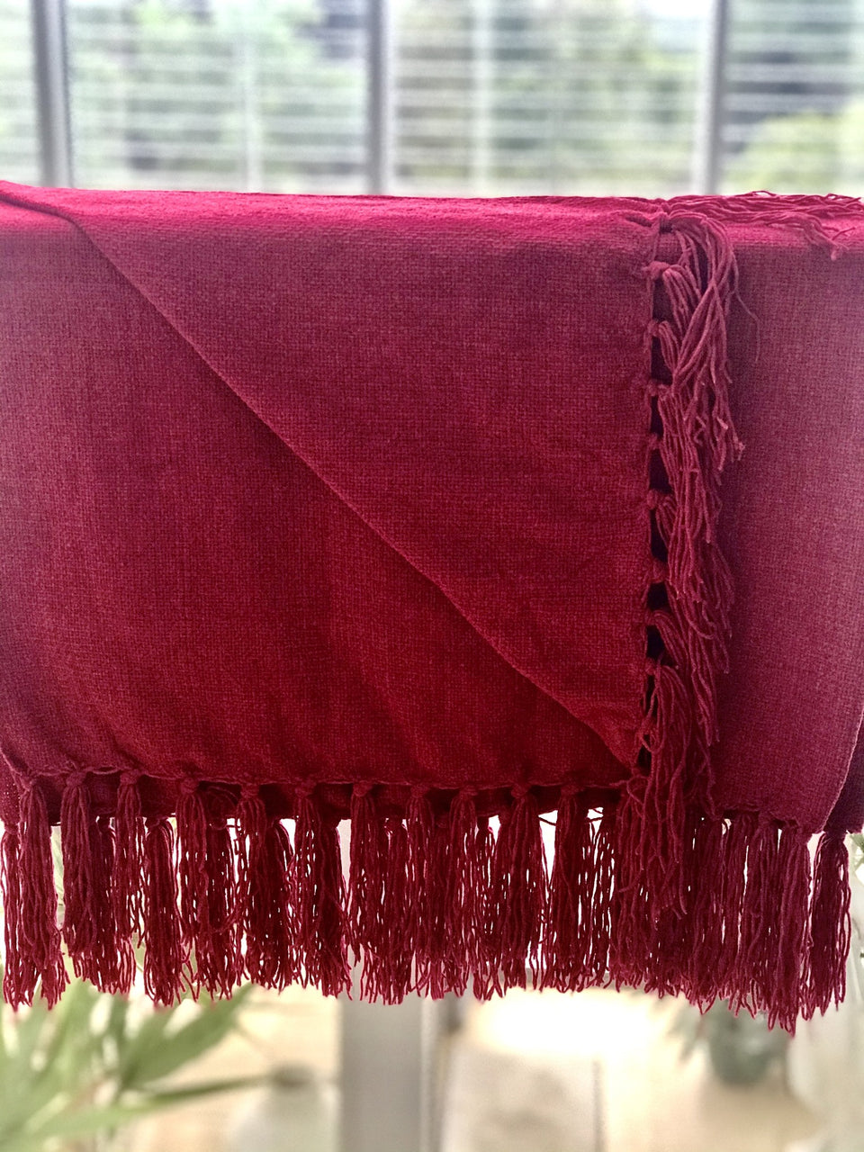 Soft Light Throw With Tassels