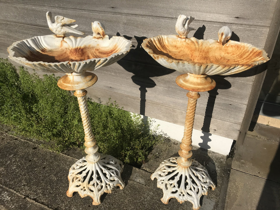 vintage cast iron birdbaths