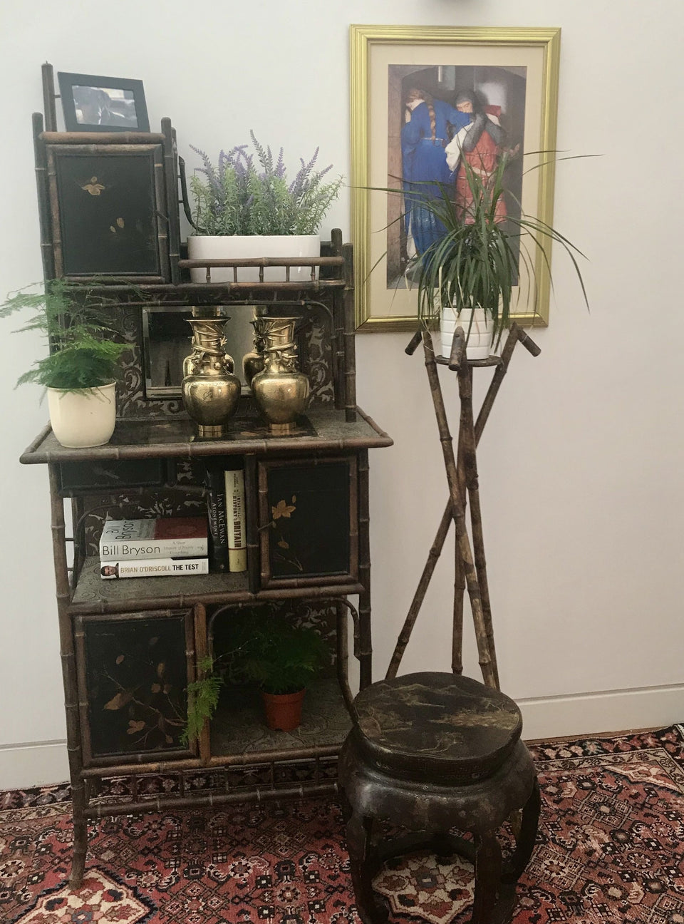 Aesthetic period Victorian Bamboo Cabinet or Etagere