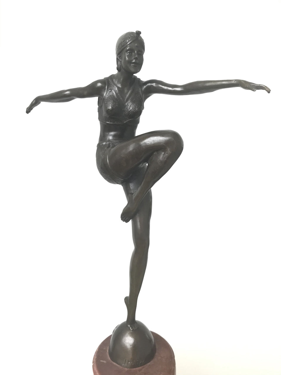 Art Deco Bronze Statue of a 1920/30's Female Dancer