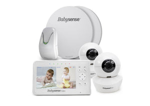 Babysense 7 Breathing & Split Screen Video Baby Monitor, 2 Cameras, V43 - Babysense