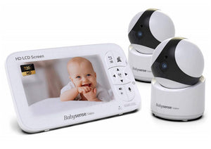 HD Video Baby Monitor, 2 Cameras, V65 - Babysense