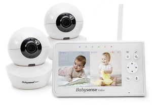 Split Screen Video Baby Monitor, V43 - Babysense