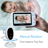 Video Baby Monitor 5 Inch Bundle - 3 Digital Cameras - Babysense