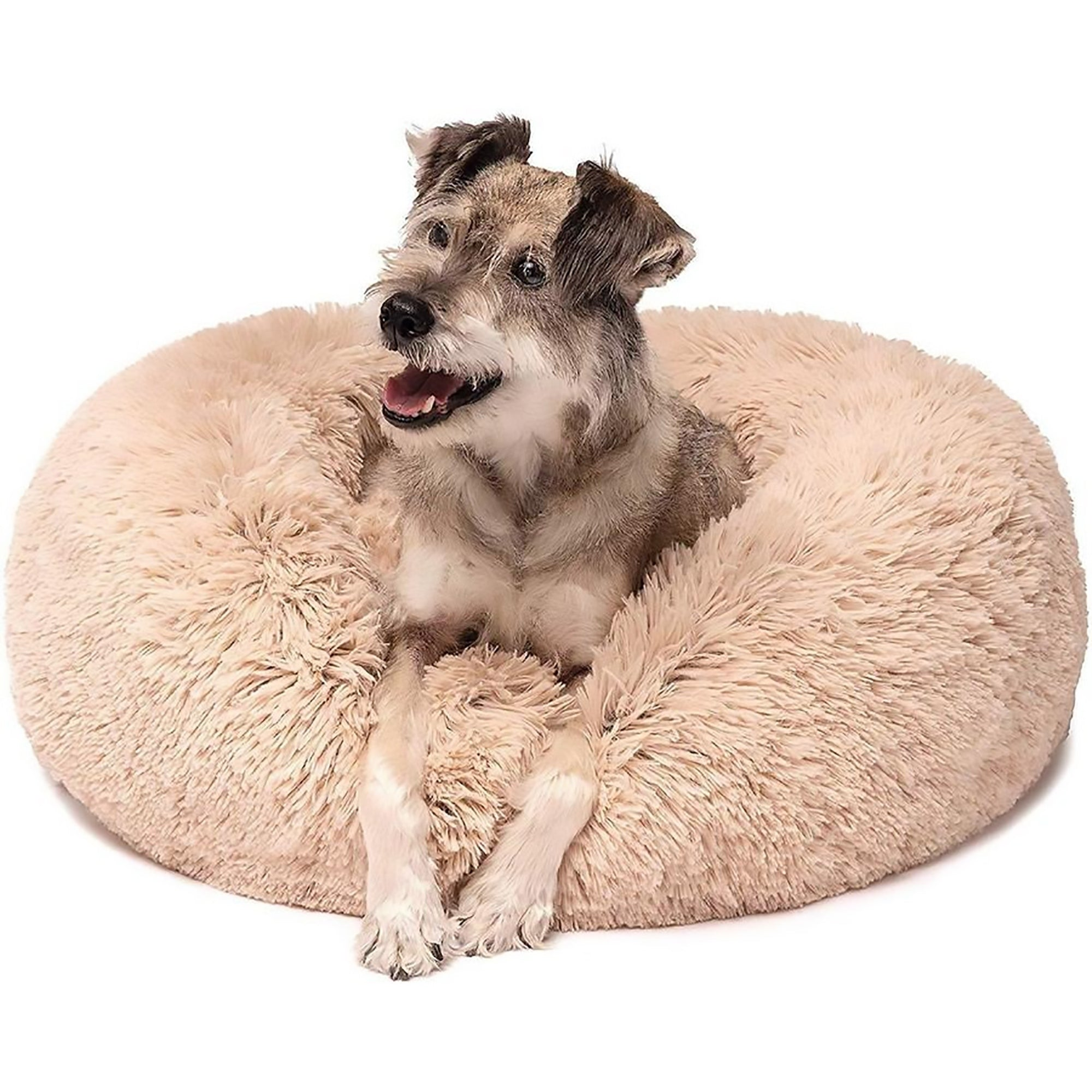 Picture of: Comfy Calming Dog Cat Bed Furry Friends