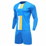 Boys And Girls Soccer Jersey Long Sleeve Set Men Youth Soccer Sets Training Jersey Suit Sport Kit cheap jerseys cheap jerseys from china cheap jerseys china 4