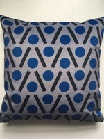 Load image into Gallery viewer, Chevron Velvet swatch in Blue