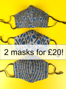 2 face masks for £20!