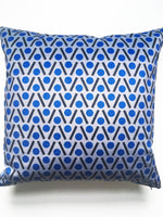 Load image into Gallery viewer, Chevron Velvet swatch in Blue (reduced scale)